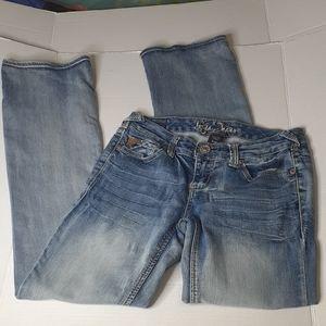 Ariya Jeans 5/6 Distressed Faded
